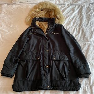 Zara Big Warm Jacket with Faux-fur